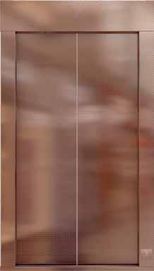 Bakır Baskılı Paslanmaz Kapı